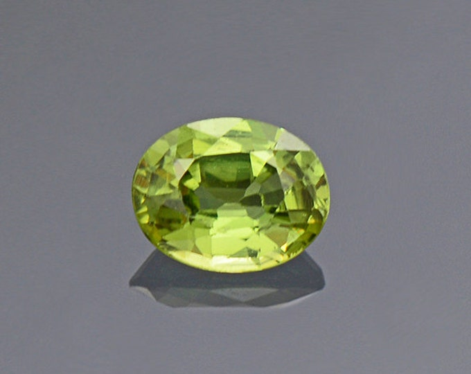 Pretty Lime Green Sapphire Gemstone from Montana 0.32 cts.