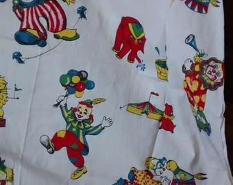 1960's vintage circus fabric
