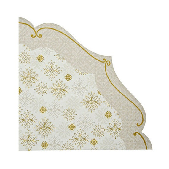 CLEARANCE! Crystal Christmas Elegant Napkins (Set of 20) - Meri Meri 6.5\  Large Snowflake Silver and Gold Party Napkins  sc 1 st  Etsy Studio & CLEARANCE! Crystal Christmas Elegant Napkins (Set of 20) - Meri Meri ...