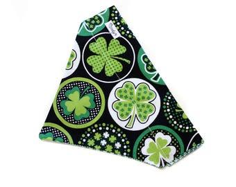Bandana fits over the collar, Luck of the Irish
