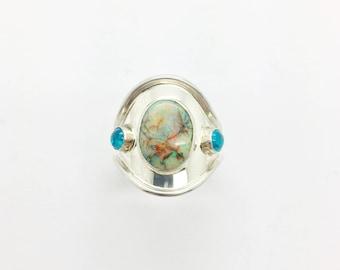Monarch Opal Ring, Sterling Opal Ring, Opal Ring,