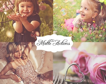 27 Matte Photoshop Actions bundle