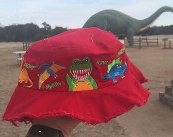 Dinosaur Valley State Park Youth Bucket Frayed Hat