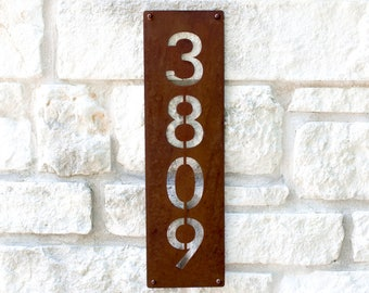 Enfield Address Plaque, Custom Address Sign, House Numbers (Free Shipping)