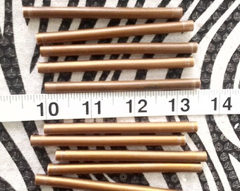 Copper Tube Beads 3 1/2 inch 20 pcs Extra Long Metal Bead, Jewelry Tubes, Handmade in the USA from Reclaimed Copper, Metalworking Supply