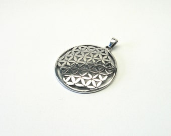 Big Flower of Life sterling silver 925 jewelry pendant flower of life pendant sterling Silver