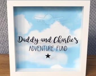 Adventure Fund Frame, Adventure Fund, Money Box Frame, Money Box, Savings Fund, Travel Fund, Holiday Fund, Personalised Gift
