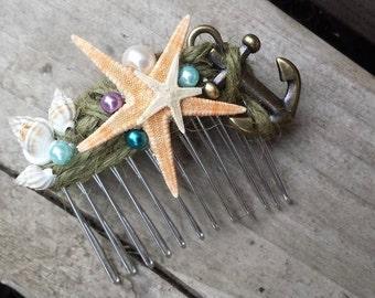 Starfish Mermaid Comb