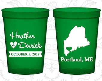 Maine Wedding Cups, Maine Stadium Cups, Maine Plastic Cups, Maine Cups, Maine Party Cups (118)