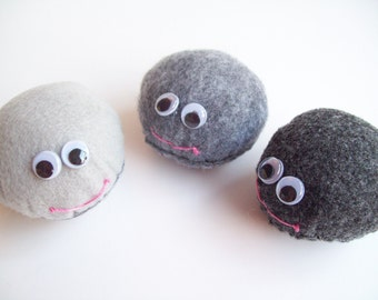 Smiling Pet Rock Plush-Large (Choose 1)