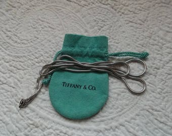 Authentic Vintage TIFFANY & CO Sterling Silver Snake Chain Necklace