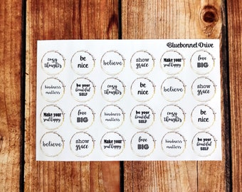 OPTIMIST 2 STICKERS (Quotes Inspired by and collaborated with Kelly from @mz.jarvis_plans) Decorative STICKER Sheet