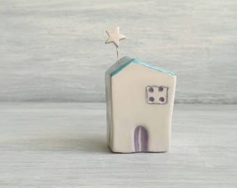 Miniature Ceramic House-cottage for the bride and groom-favor home-decor house-Wedding Favors-home décor-gifts for her
