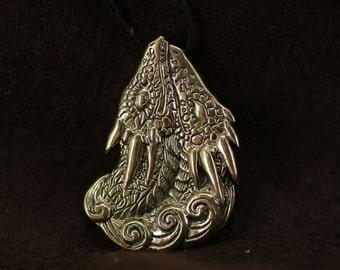 Two Dragons Pendant Heart Couple Love bronze pendant necklace