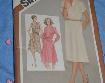 Simplicity 9865 Misses Pullover Dress Sewing Pattern - UNCUT - Size  12