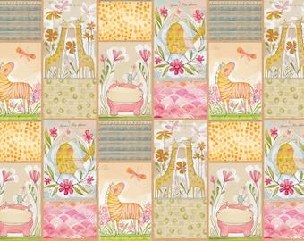 "Hello World - Mini Managerie 24"" x 44"" Panel - Cori Dantini for Blend Fabrics"