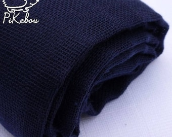 Navy Blue diaper with cotton muslin