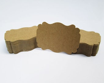 Two Tone Brown Kraft Tag, Gift Tag, Kraft Earring Card Set of 100