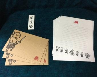 Japanese style Letter set -Samurai-