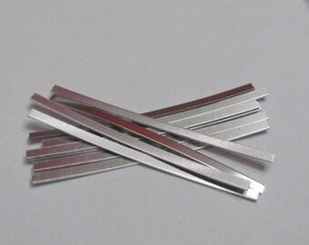 1/8 x 3  - 1100 -20 Gauge -Aluminum ring blanks -Easy Hand Stamping Blanks -metal blanks - skinny ring blanks