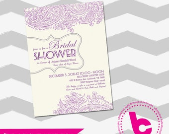 Bridal Shower Invitation layout 5x7