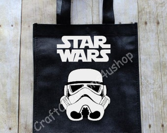 Trick or Treat Bag, Halloween Treat Bag, Personalized Vinyl Bag, Star Wars Trick orTreat Bag,  Storm Trooper Trick or Treat Bag