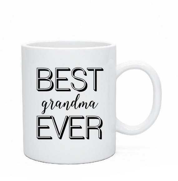 Best Grandma Ever Mug, World's Best Grandma, Custom Ceramic Mug, Custom Grandma Mug, Grandparents Present, Grandma Mug, Grandparents Gift
