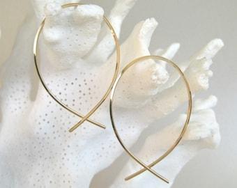 Gold Simplicity Hoop Earrings II