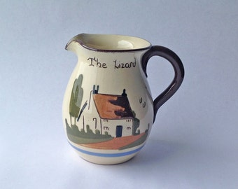 Motto Ware Souvenir Jug The Lizard Cornwall, Time and Tide Wait for no Man