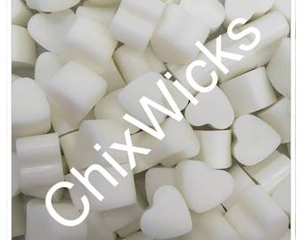 100 Coconut and Vanilla Soy Wax Mini Heart Melts