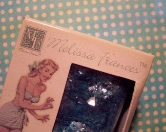 Melissa Frances Blue Mica Flakes