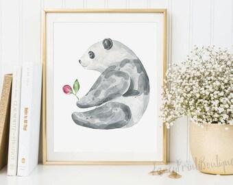 Nursery Panda Printable ,Nursery Panda Print, Panda nursery print, Panda nursery decor, Panda nursery printable, panda bear print