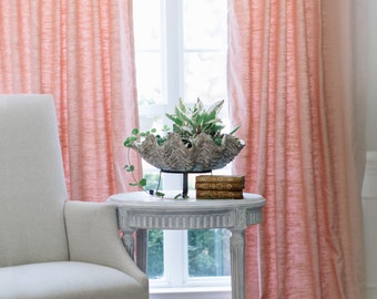 Lined Blush Linen Drapery Panel