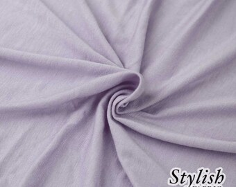 Lilac Pale Light-weight 160 GSM Rayon Spandex Jersey Knit Fabric by the Yard - 1 Yard Style 13390