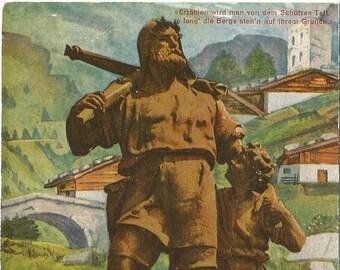 Wilhelm Tell - Altdorf, Telldenkmal, Vintage 1930's Unused Postcard, Switzerland
