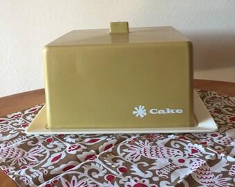 Vintage Plastic Cake Cover