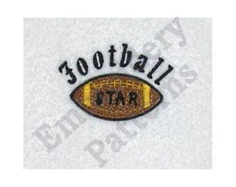 Football Star - Machine Embroidery Design