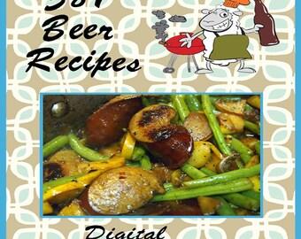 381 Beer Recipes E-Book Cookbook Digital Download