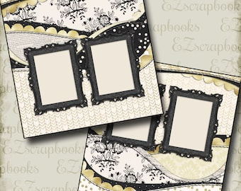 THE WEDDING - Three - 2 Premade Scrapbook Pages - EZ Layout 659