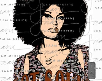 Afro Girl - Got Soul- Chopstix Graphic Tee