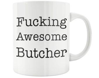 Butcher Gift, Funny Butcher Mug, BUTCHER, Butcher Mug, Gift for Butcher, Dad Mom butcher Gift, Mug for butcher, Best butcher,Awesome butcher