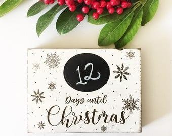 Chalkboard Christmas Countdown Signs