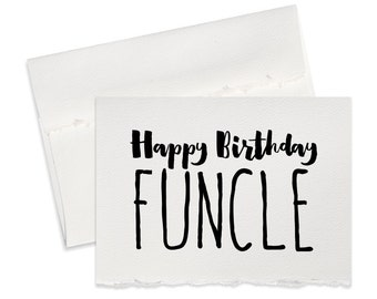 Funny birthday card for Uncle Happy birthday uncle greeting card for birthdays funny card from nephew niece note card funny birthday cards