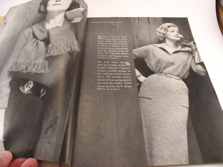 Vogue Knitting Book Magazine Fall-Winter 1960 Knitting Patterns ...