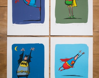 Superheroes - Full Set of Limited edition Prints
