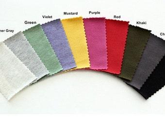 Franse Baby Terry Knit stof in 7 effen kleuren door de werf