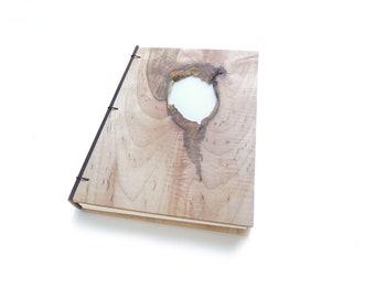 6x8 Maple Journal Wooden Notebook Wooden Wedding Guestbook Wood Journal Engraved Notebook Wooden Sketchbook Custom Journal Travel Notebook