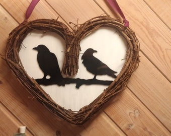 Ravens in Love Wreath
