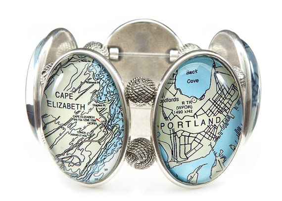 Portland Maine Five Cameo Stretch Bracelet