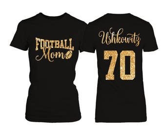 Personalized Football Mom T-shirt